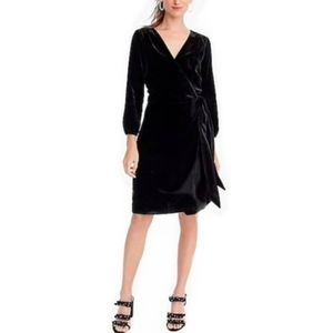 J.CREW - NWT Velvet Wrap Dress